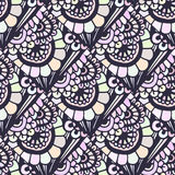 Doodle seamless pattern in vector. Creative floral background for your design, wrapping paper, textile Stock Photo