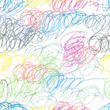 Doodle seamless pencil scribble pattern Stock Image