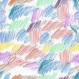 Doodle seamless pencil scribble pattern Stock Photography
