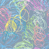 Doodle seamless pencil scribble pattern Stock Photos