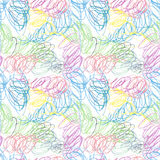 Doodle seamless pencil scribble pattern Stock Photo