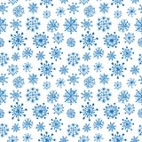 Doodle seamless snowflake background Royalty Free Stock Photography