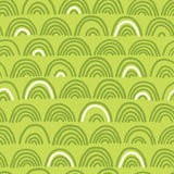 Doodle seamless wave pattern Royalty Free Stock Photo