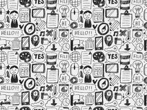 Doodle seamless web background Stock Photo