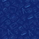 Doodle sem emenda - projeto gráfico Imagens de Stock