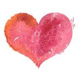 doodle serca, sketchy ilustracyjny Fotografia Stock