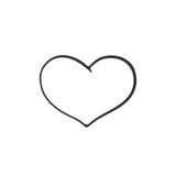Doodle serce Obrazy Royalty Free