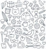 Doodle set  Royalty Free Stock Images
