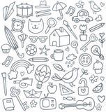 Doodle set stock illustration
