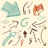 Doodle set - arrows. Different isolated doodles of arrows Royalty Free Stock Photo