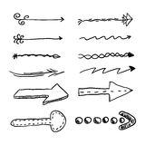 Doodle set of  arrows. Royalty Free Stock Images