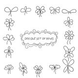 Doodle set of bows Stock Photo