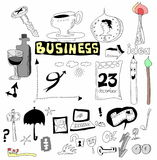 Doodle set business icons Stock Photo