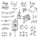Doodle set of decoration Royalty Free Stock Photos