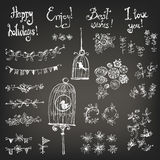 Doodle set of decoration Stock Photography