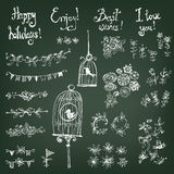 Doodle set of decoration Royalty Free Stock Photography