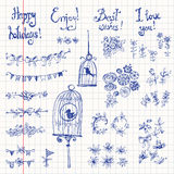 Doodle set of decoration Royalty Free Stock Images