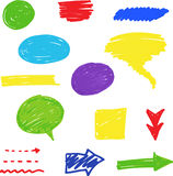 Doodle set Royalty Free Stock Photography