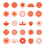 Doodle Set of Flowers Royalty Free Stock Images
