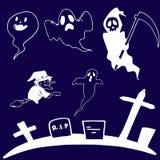 Doodle set ghost Halloween Royalty Free Stock Photos