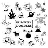 Doodle set Halloween Obraz Royalty Free