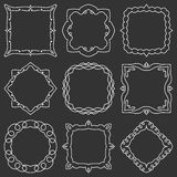 Doodle set hand drawn element for frames, logo, yoga, ethnic design. Set No. 16 of 9 items. Vector illustration Royalty Free Stock Image