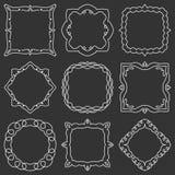 Doodle set hand drawn element for frames, logo, yoga, ethnic design. Set No. 16 of 9 items. Vector illustration stock illustration