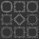 Doodle set hand drawn element for frames, logo, yoga, ethnic design. Set No. 15 of 9 items. Stock Photography