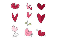 Doodle Set: Hearts Royalty Free Stock Photo