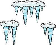 Doodle set of icicles Royalty Free Stock Photo