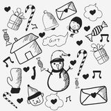 Doodle set for Merry Christmas celebrations. Royalty Free Stock Images
