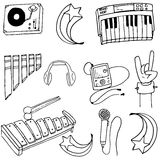 Doodle set of music Stock Images