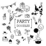 Doodle set Partyjne rzeczy Obraz Royalty Free