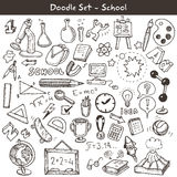 Doodle set - school Royalty Free Stock Photos