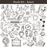 Doodle set - school Royalty Free Stock Photos