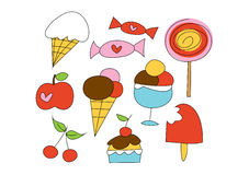Doodle Set: Sweet things Royalty Free Stock Images