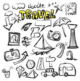 Doodle set travel icon Royalty Free Stock Photo