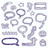 Doodle set Stock Photography