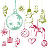 Doodle set - xmas tags royalty free illustration