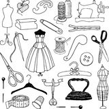 Doodle of sewing Royalty Free Stock Images