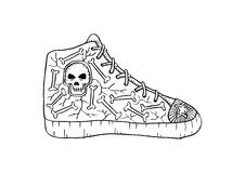 Doodle Shoes Royalty Free Stock Image