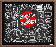 Doodle Shopping Icons Stock Photography