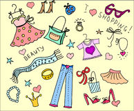 Doodle shopping,vector Royalty Free Stock Images