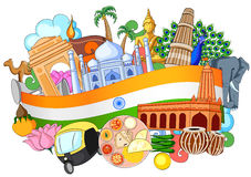 Doodle showing Architecture and Culture of India. Vector illustration of Doodle showing Architecture and Culture of India Royalty Free Stock Photography