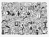 Doodle sieci element Zdjęcie Royalty Free