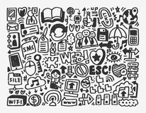Doodle sieci element Obrazy Royalty Free