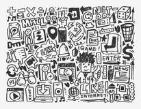 Doodle sieci element Zdjęcie Stock