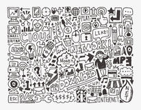 Doodle sieci element Obraz Royalty Free