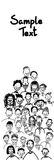 Doodle Simple Casual People Group Empty Copy Space Stock Photography
