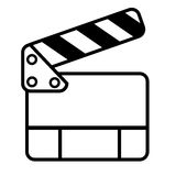 Doodle Simple of Film Clapper Stock Photography